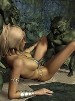 Sexy 3D Fantasy Heroine with soft bust gets fucked