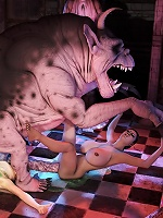 Hentai Secretary getting fucked by 3D Ogre