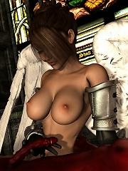 Sexy Sorceress bombed by Engineer