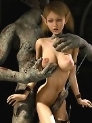 Cute Elf-Amazons and Ugly Goblin-Warriors