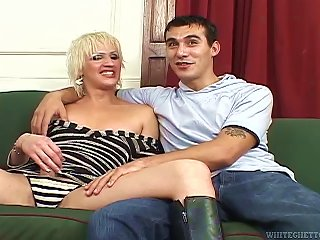 Transsexual Isla Fucks A Guy In His  On A Sofa