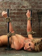 Flexible Blond MILF is tied...
