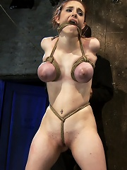 Huge titted 19yr old suffers...
