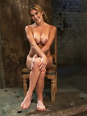 Hot Blond has her huge tits...