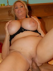 Samantha 38g fucks and has her enormous juggs spunk stained!