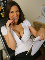 This hot shrink is taking advantage of her clients in these hot pics