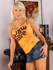 Pretty busty blonde