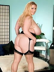Huge black breasts honey janet Jade strips off tight white dress.