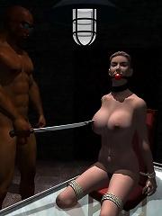 Virgin 3D Mom blows Hentai lover