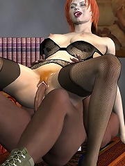 3D miss bombed and eats warm cum