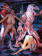 Toon mistress rides Ghouls erected cock and cums
