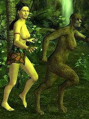 Curious Sweetie craves forest elfs rampaging cock