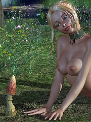 Horny 3D Sorceress getting captured and coming