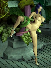 Messy 3D dickgirl