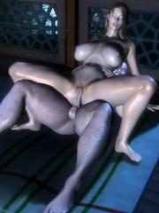 Flirty Vigrin massages Demon before gets plugged