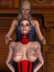 Big bust 3D Priest with thick strap-on