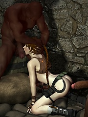 Elf Princess with great knockers blows