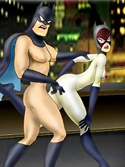 Whore Catwoman getting exploited and penetrated in her hole