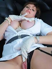 Milf nurse fingering