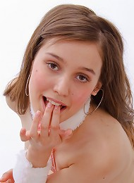 Excited teen seductress