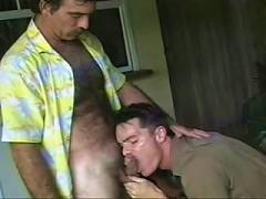 Big bodied gay bear musclemen swallowing cum-filled penis