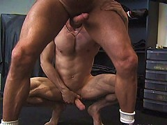 Mouthful of old ass and old cock