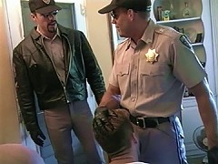 Two cops get to bust some assholes