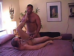 Hairy dude fills up his ass with dick