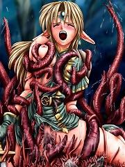 Hentai hotties and huge tentacles