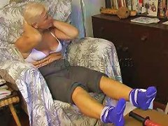 Extremely Spoiled Granny Fucks Her Pussy With Her Sex Toy