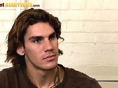 Cute straight lad in his first audition movies