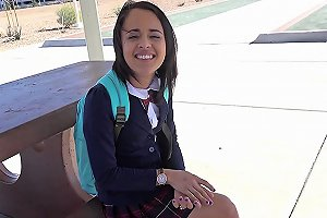 Holed Big Dick Shoved In Petite School Girl Holly Hendrix Ass