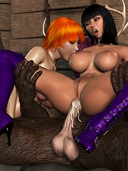 3D Chick getting loaded with jizz