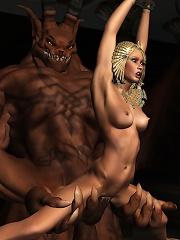 Unlucky 3D Nun gets fondled by hot Demon