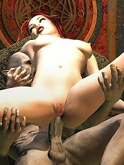 Priest grab Devils cock and squirts
