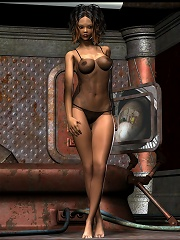 3D Chick with soft breasts deals with dick
