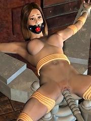 Sensual Toon Streetwalker in the mens room