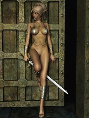 3D Princess massages Crusaders dick then filled