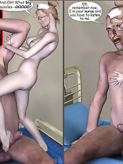 Trapped 3D Brunette for the...