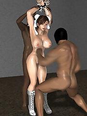 Lady takes cruel 3D Mutant...