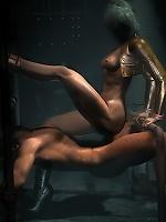 Secretary loves hot 3D Goblin as gets drilled