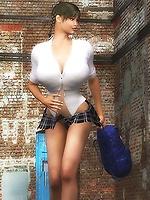Hot Asian schoolgirl!