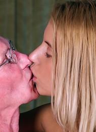 Blonde babes sharing two seniors