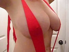 Lateshay big 36 G Saggy natural tits for your cum in my brown eye