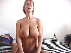 Busty rides the dick.