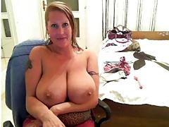 Laura Orsolya on WebCam From Behind