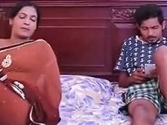 Bengali Aunty Having Romance With Husband At Bedroom