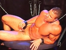Hot stud BDSM fucking with four guys
