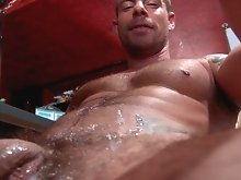 This scene brings us some of the hottest bar action ever seen. Buff studs Jake and Martin work each others bodies, biting, sucking and licking absolut