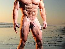 Ben Kieren Hairy Bodybuilder California Beach